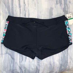 NWT Black Bathing Suit Shorts